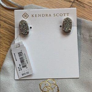 Jewelry - NEW Kendra Scott platinum Drusy Ellie Earrings